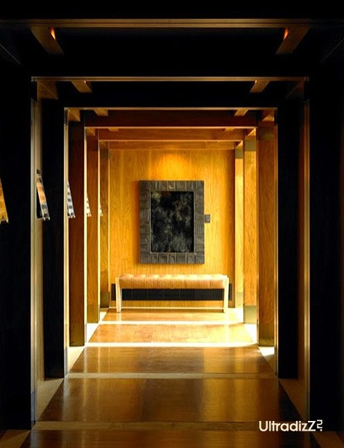 освещение архитектурных элементов в интерьере коридора
