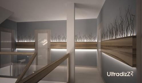световой декор в современном интерьере коридора