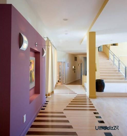 оригинальный дизайн пола в коридоре