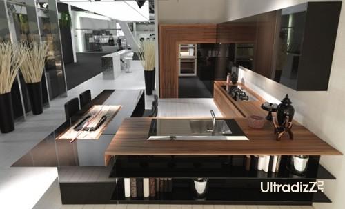фактурные сочетания в дизайне мебели для кухни