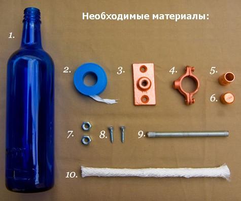 материалы для изготовления светильника своими руками