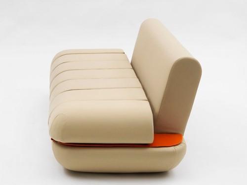 вид дивана трансформера сбоку