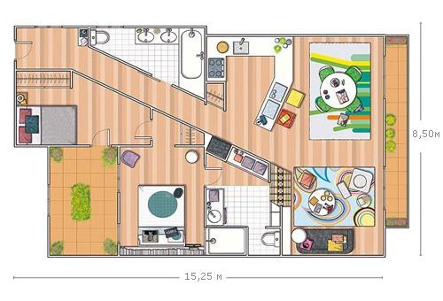 диагональная планировка квартиры