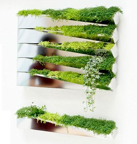 выдвижные ящики для растений в конструкции зеркала