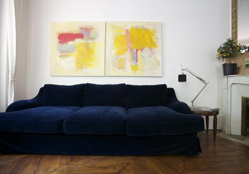 декорирование интерьера абстрактной живописью