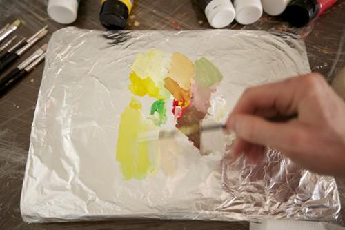 смешивание акриловых красок