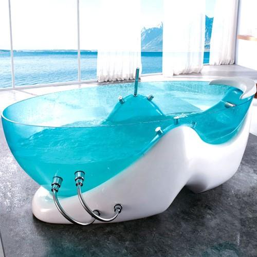 дизайн ванны с прозрачным корпусом