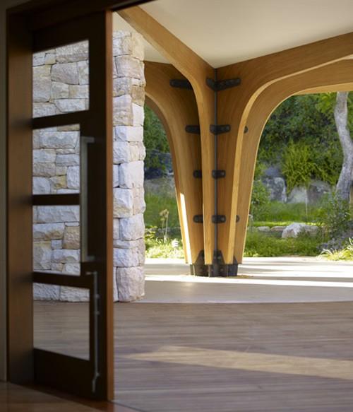 дизайн дома с радиальными структурами