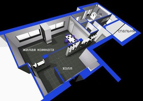 план римской квартиры