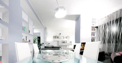 столовая в большой гостиной