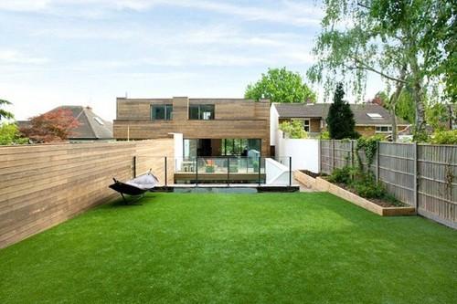 внутренний двор быстровозводимого дома