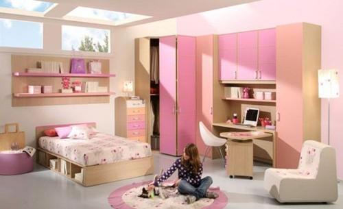 комната для подростка девочки в теплой гамме