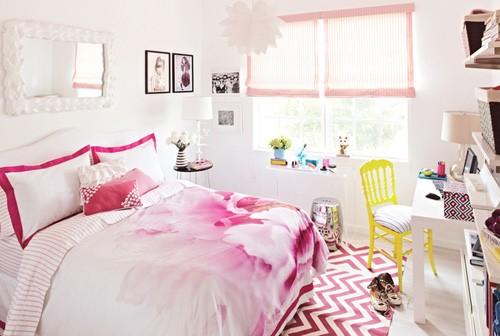 оттенки розового в комнате девочки