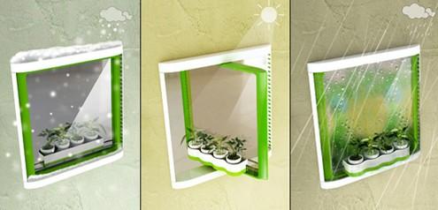 удобное выращивание растений на створке поворотного окна
