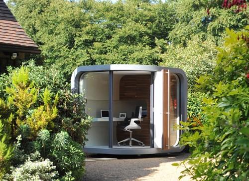 домашний офис в саду