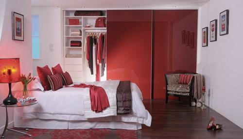 шкаф-купе в дизайне спальни