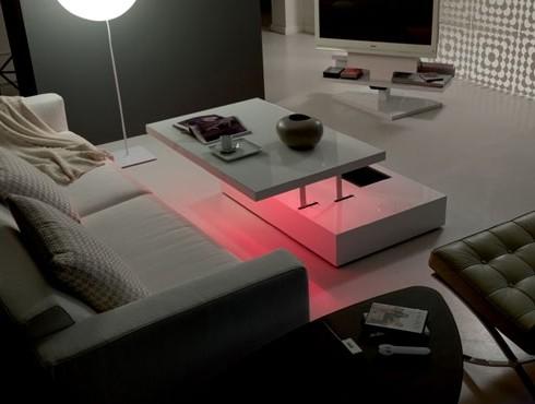 стол трансформер с подсветкой
