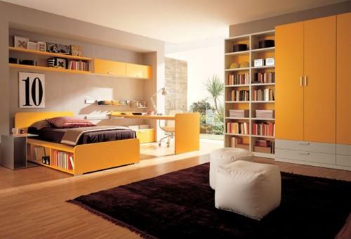 желтый цвет в комнате подростка