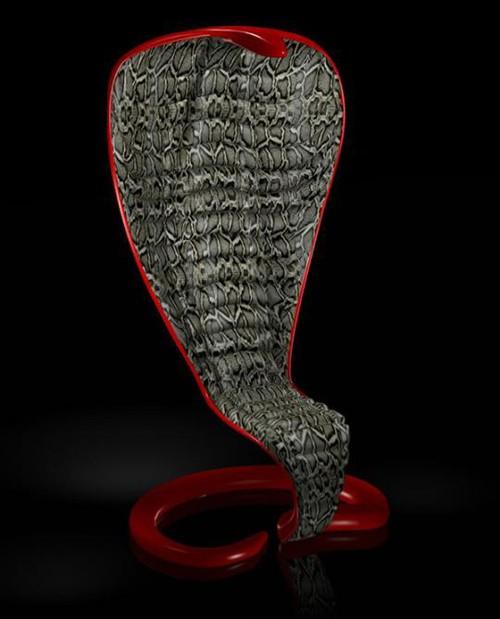 кресло в стиле змеи