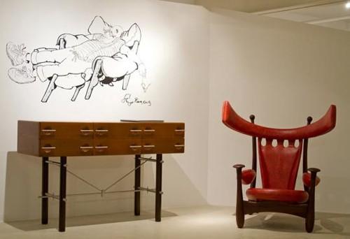 экзотическое кресло в интерьере