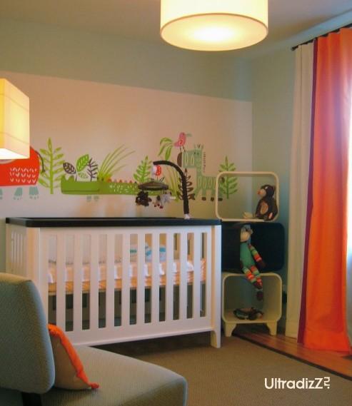 декор в детской для новорожденного