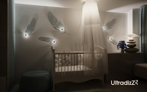 оригинальный интерьер для новорожденного