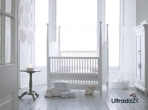 белая детская для новорожденного