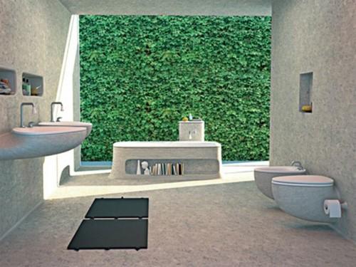 сантехника из бетона в интерьере ванной