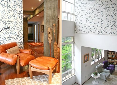современный декор стен квартиры