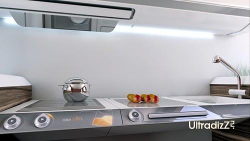 рабочий кухонный стол регулируемой высоты