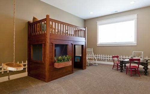 комнатные растения в тематическом интерьере детской