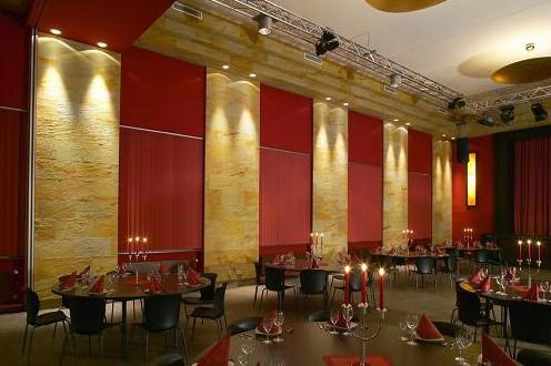 дизайн ресторана с гибким камнем