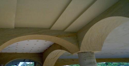 гибкий каменный лист в интерьере