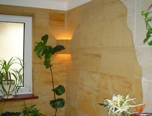облицовка стен гибким камнем