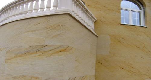 гибкий камень облицовка фасада
