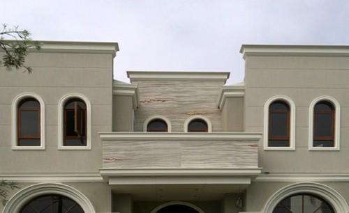 отделка фасада гибким камнем