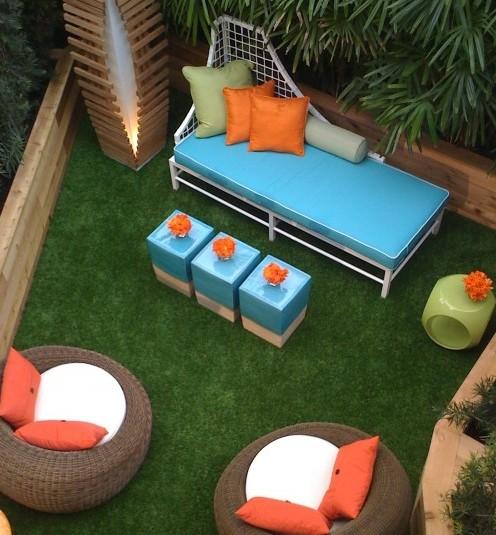 голубая садовая мебель