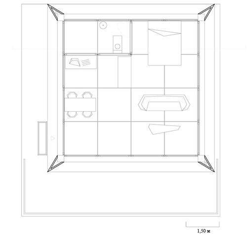 план модульного дачного дома