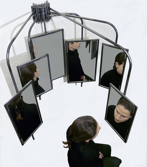 зеркало на подвижных кронштейнах