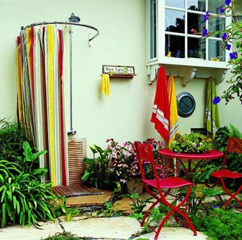 минималистичный летний душ