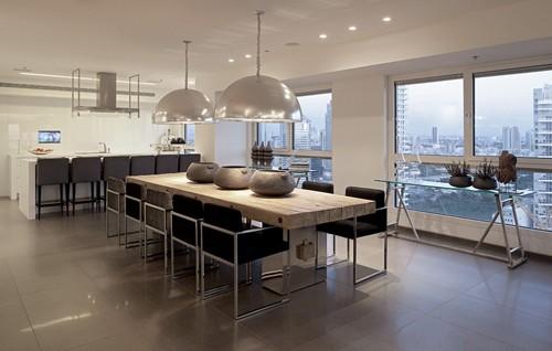 кухня и столовая в белой гамме