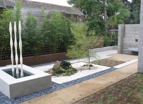 дизайн бетонного пруда