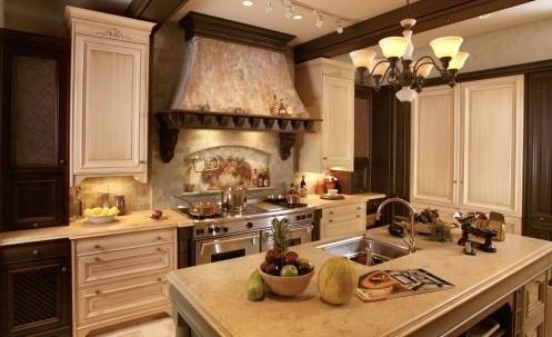роскошная кухня в классическом стиле