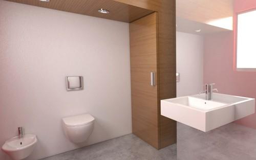 дизайн ванной с зеркальной стеной