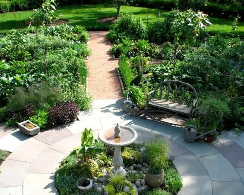 дизайн огорода в центре двора