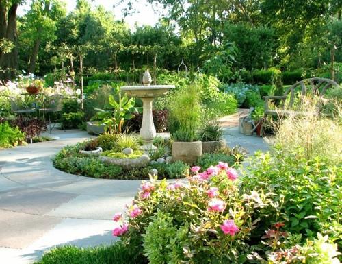 ландшафтный дизайн частного огорода