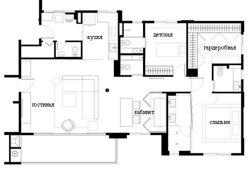план квартиры после реконструкции