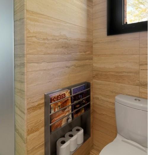 камень в интерьере туалета