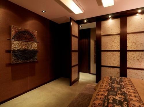 перегородка спальни в восточном стиле