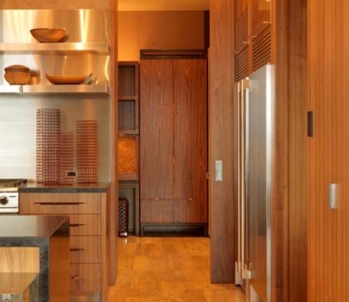 металл и дерево в интерьере кухни